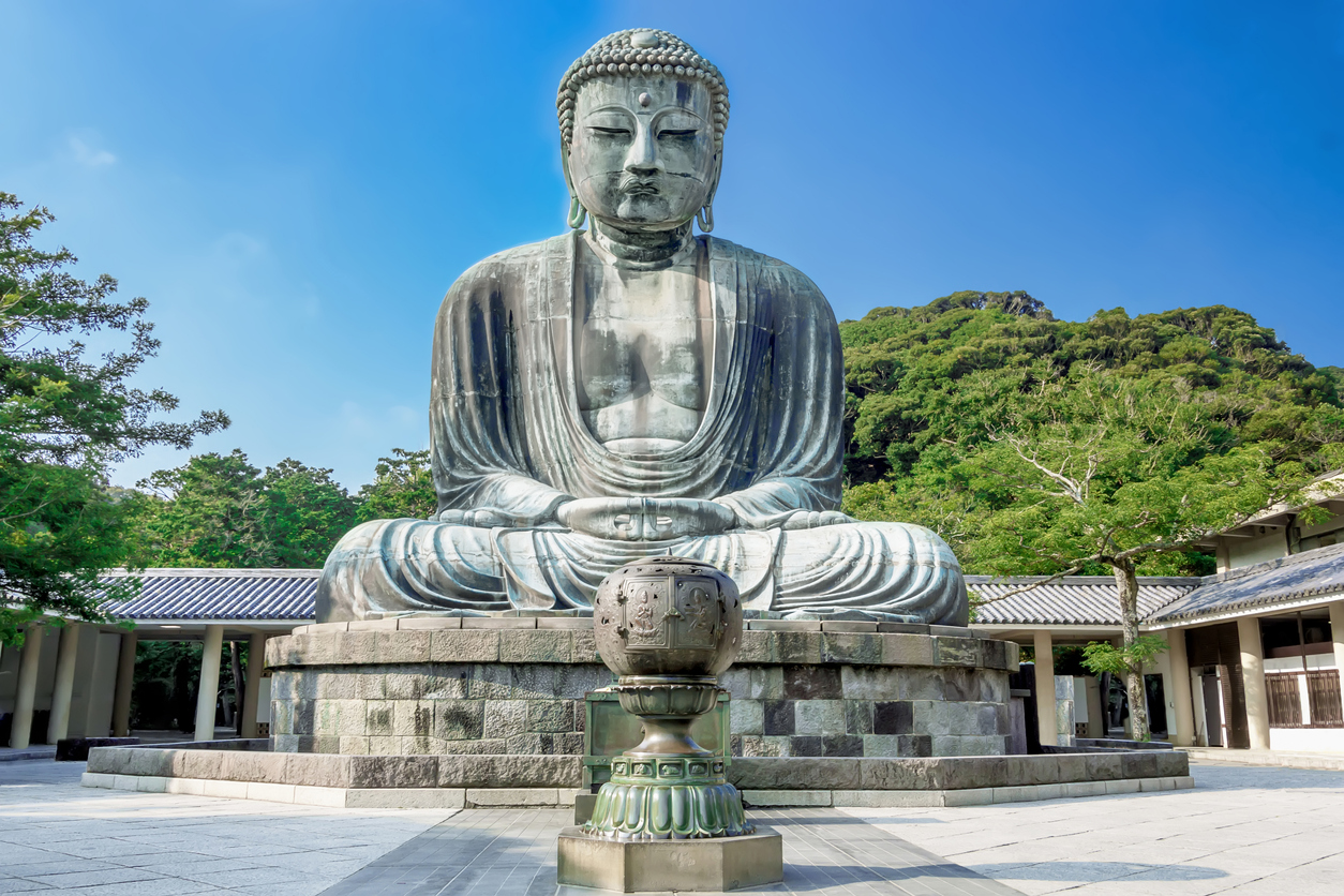 Daibutsu. The Great Buddha of Kotokuin Temple in Kamakura