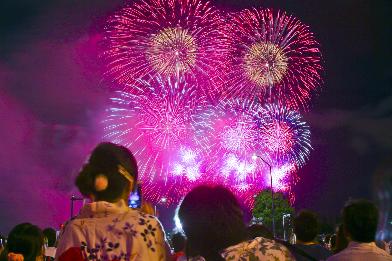Spectators Watch Fireworks